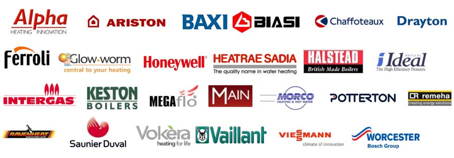 lots of logos of boiler manufacturers